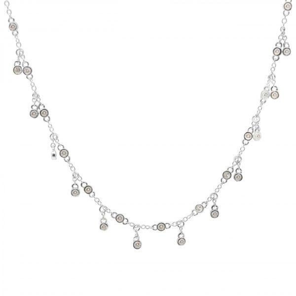 collier choker pampilles zirconiums bijoux