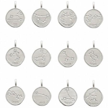 médaille constellation du zodiaque argent